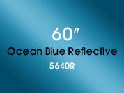 Ocean Blue Reflective 5640R Colored Window Film for Architectural Glass Design