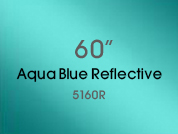 Aqua Blue Reflective 5160R Colored Window Film for Architectural Glass Design