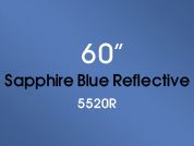 Sapphire Blue Reflective 5520R Colored Window Film for Architectural Glass Design