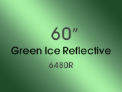 Green Ice Reflective 6480R Colored Window Film for Architectural Glass Design