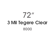 3 Mil Tegere Clear 8030 - 72 in
