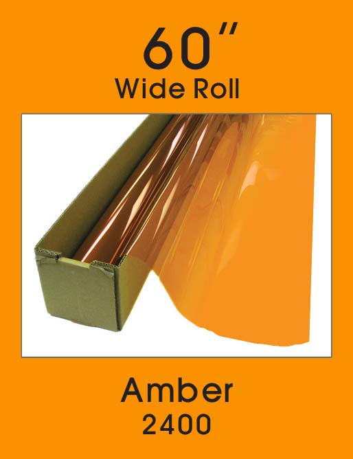 "Amber 60"" - 2400 - Colored Window Film"