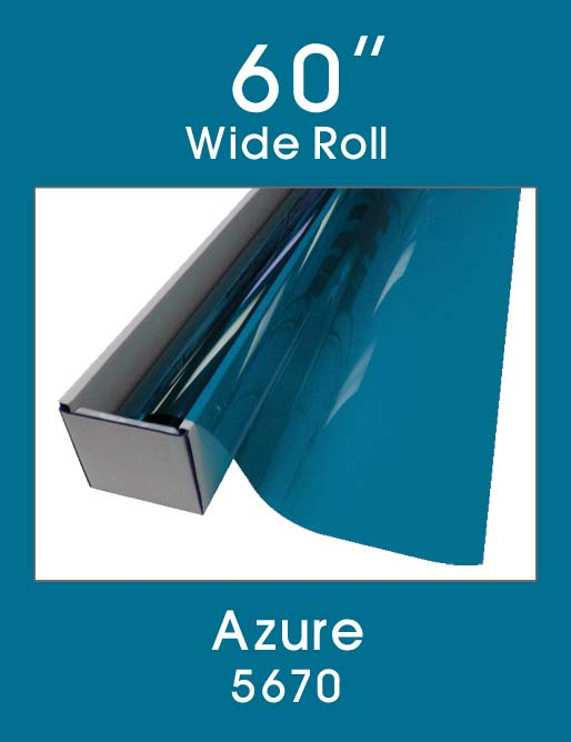 "Azure 60"" - 5670 - Colored Window Film"