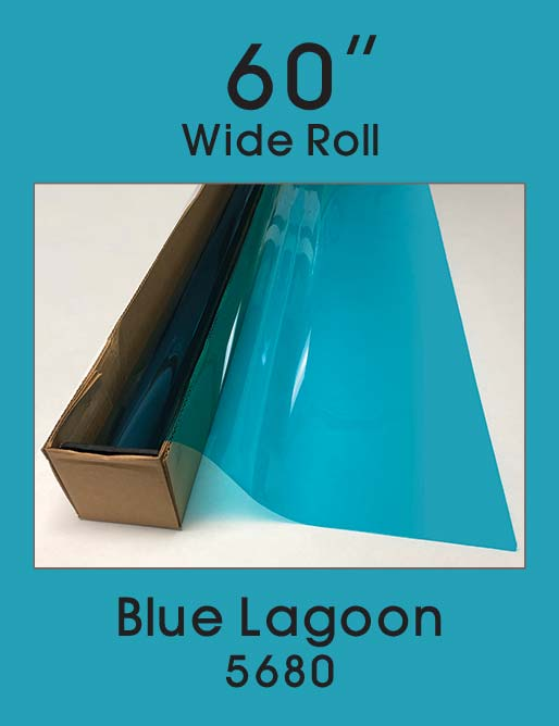 "Blue Lagoon 60"" - 5680 - Colored Window Film"