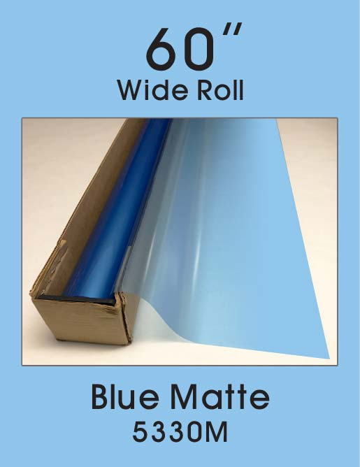 "Blue Matte - 60"" - 5330M - Colored Window Film"
