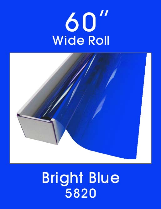 "Bright Blue 60"" - 5820 - Colored Window Film"
