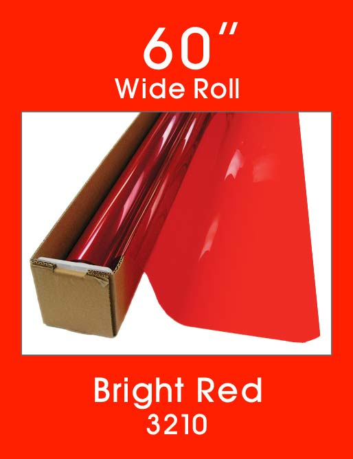 "Bright Red 60"" - 3210 - Colored Window Film"