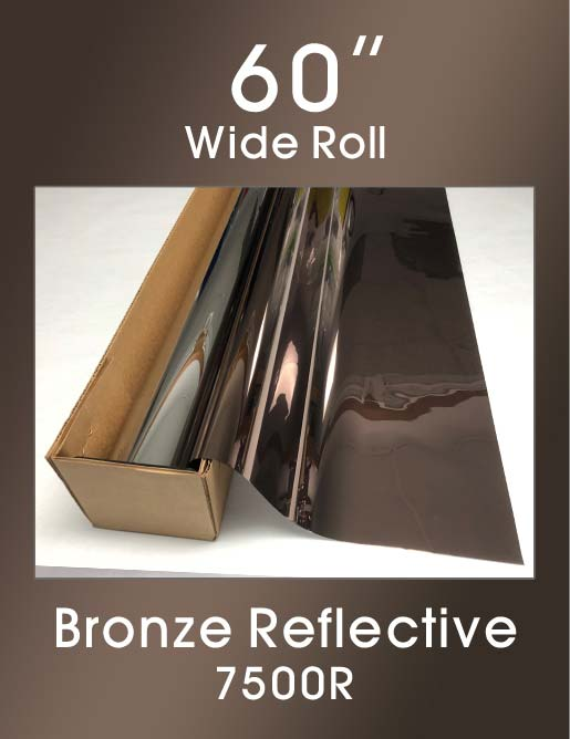 "Bronze Reflective - 60"" - 7500R - Colored Window Film"