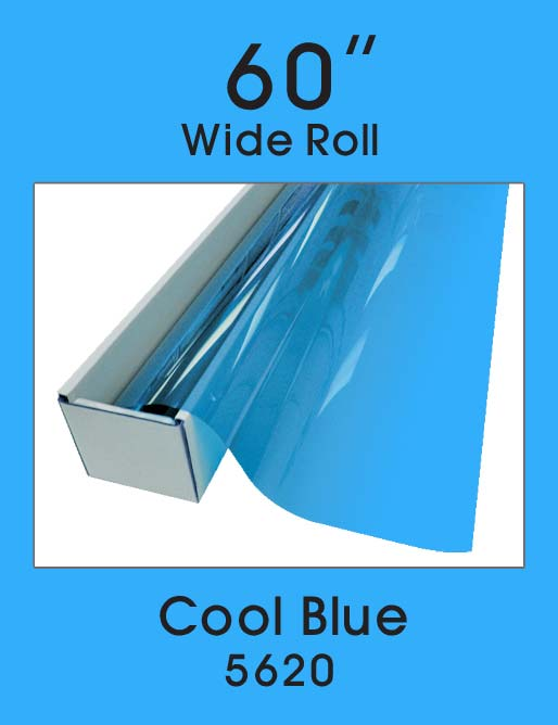 "Cool Blue 60"" - 5620 - Colored Window Film"