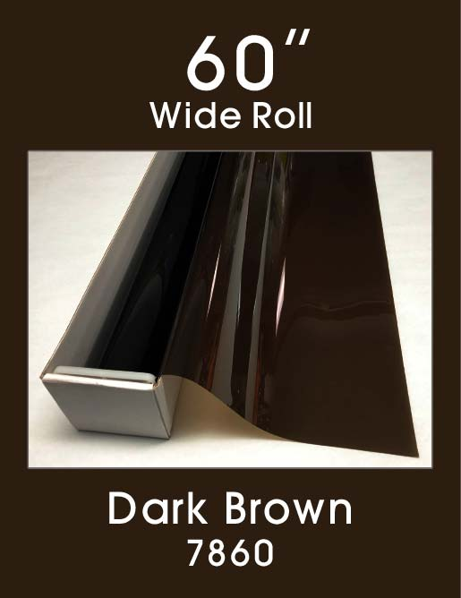 "Dark Brown 60"" - 7860 - Colored Window Film"
