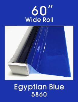 "Egyptian Blue - 60"" - 5860 - Colored Window Film"