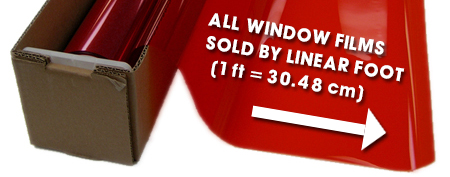 ALL WINDOW FILMS SOLD BY LINEAR FOOT