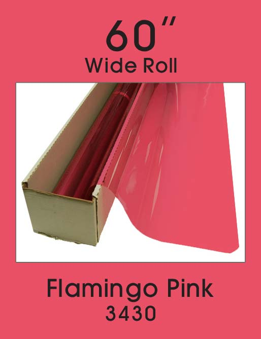 "Flamingo Pink 60"" - 3430 - Colored Window Film"