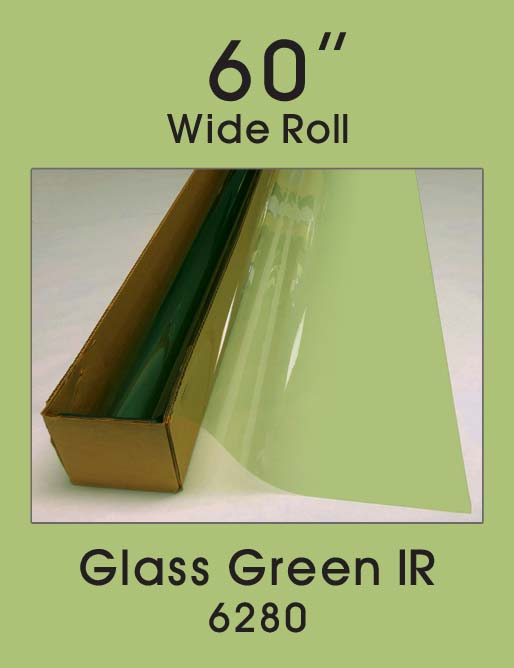 "Glass Green IR 60"" - 6280 - Colored Window Film"