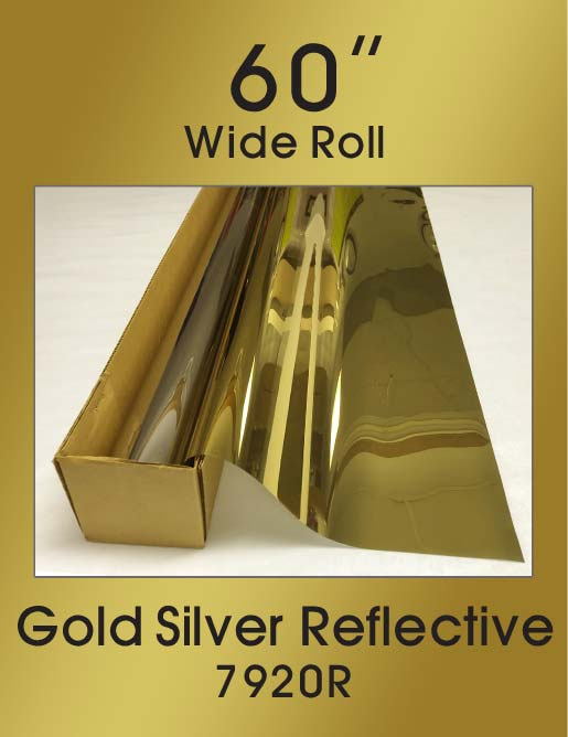 "Gold Silver Reflective 60"" - 7920R - Colored Window Film"