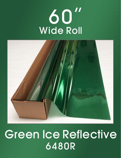 "Green Ice Reflective 60"" - 6480R - Colored Window Film"