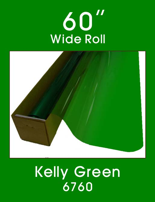 "Kelly Green 60"" - 6760 - Colored Window Film"
