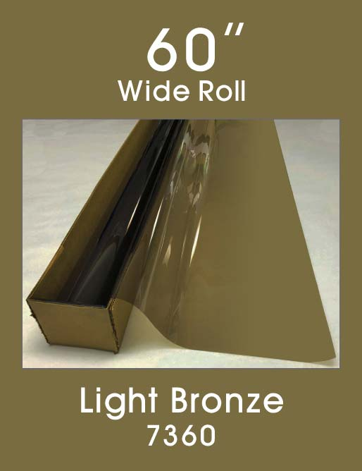 "Light Bronze 60"" - 7360 - Colored Window Film"