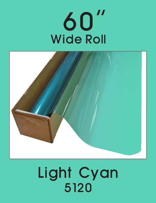 "Light Cyan 60"" - 5120 - Colored Window Film"