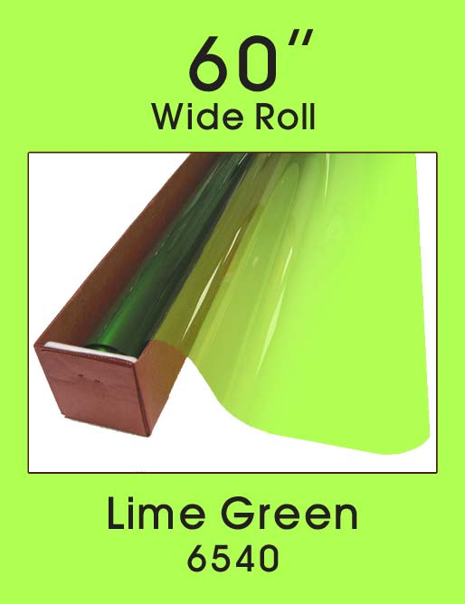 "Lime Green 60"" - 6540 - Colored Window Film"