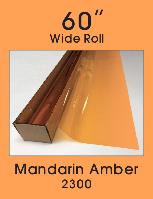 "Mandarin Amber 60"" - 2300 - Colored Window Film"