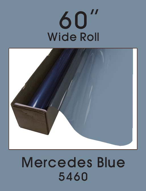 "Mercedes Blue 60"" - 5460 - Colored Window Film"