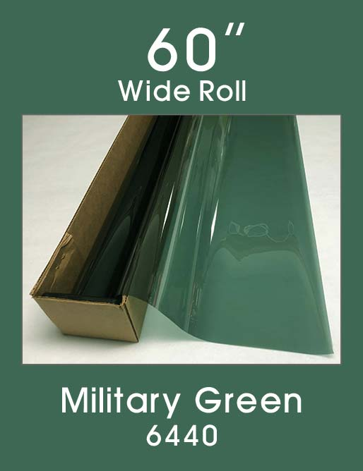 "Military Green 60"" - 6440 - Colored Window Film"