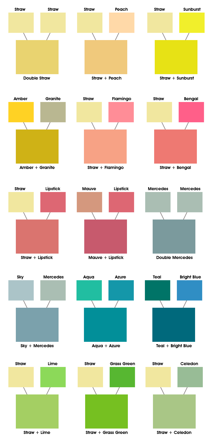Colored Window Film Combinations