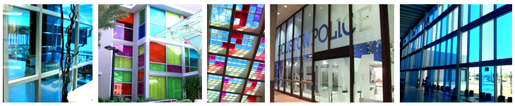 Solar Graphics Colored Window Film Archectural Glass Applications
