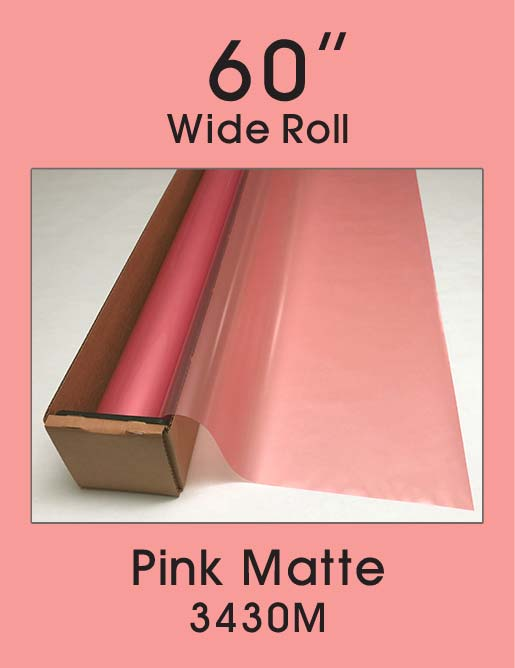 "Pink Matte - 60"" - 3430M - Colored Window Film"