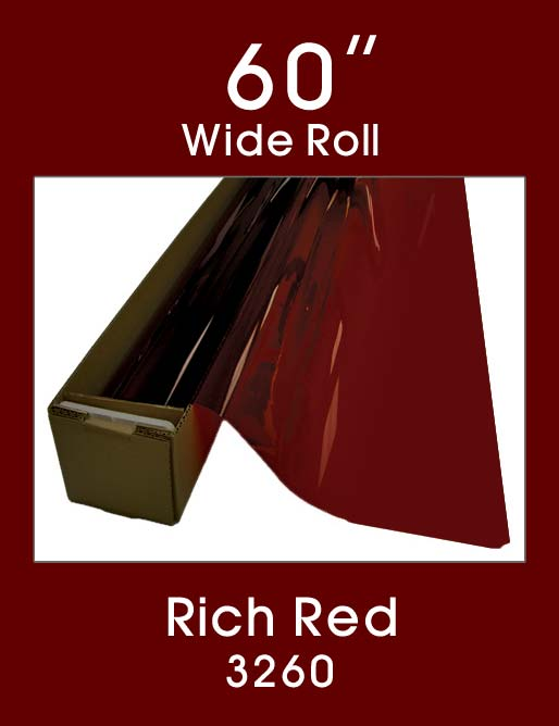 "Rich Red 60"" - 3260 - Colored Window Film"