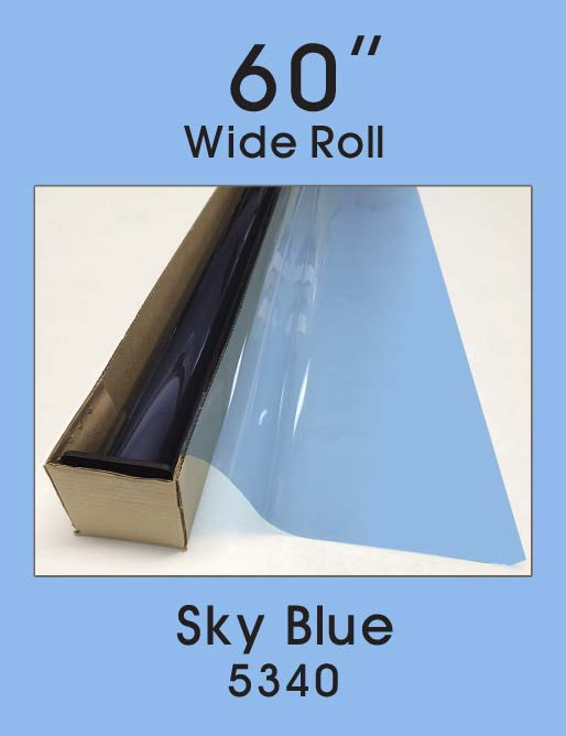 "Sky Blue 60"" - 5340 - Colored Window Film"