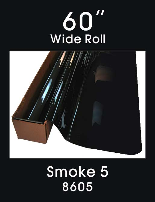 "Smoke 5 - 60"" - 8605 - Colored Window Film"