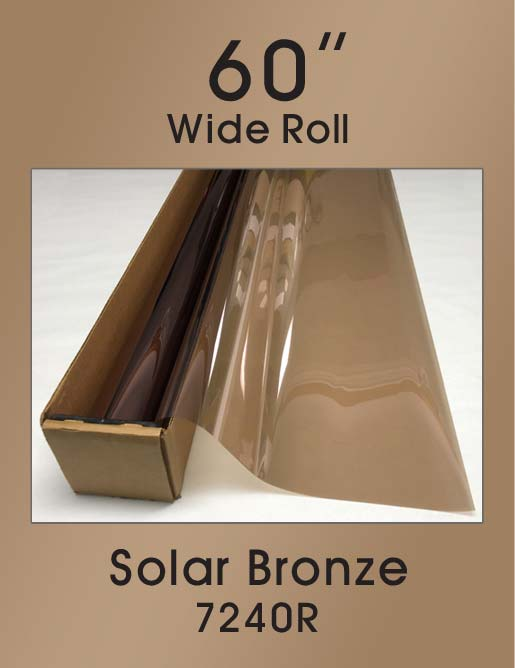 "Solar Bronze 60"" - 7240R - Colored Window Film"