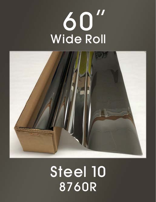 "Steel 10 - 60"" - 8760R - Colored Window Film"