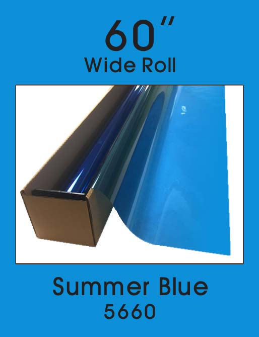 "Summer Blue 60"" - 5660 - Colored Window Film"