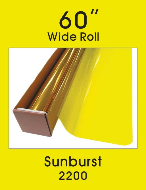 "Sunburst 60"" - 2200 - Colored Window Film"