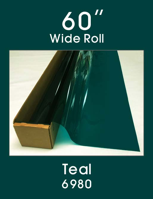 "Teal 60"" - 6980 - Colored Window Film"
