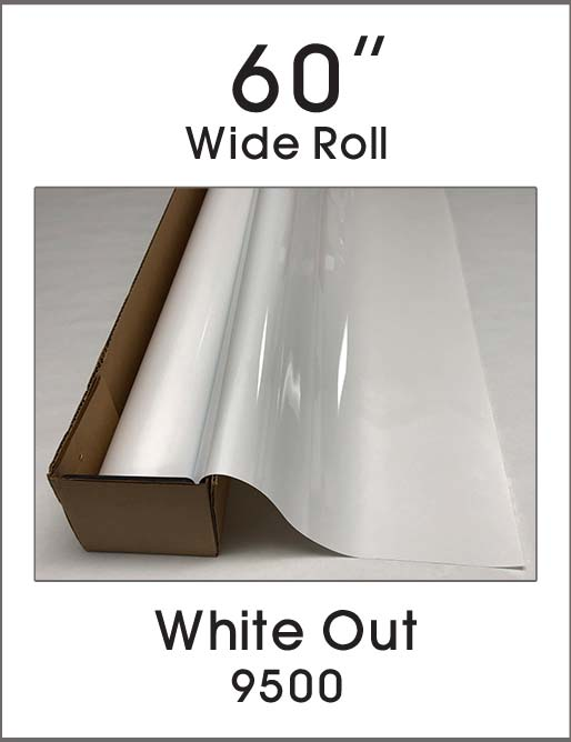 "White Out - 60"" - 9500 - Colored Window Film"