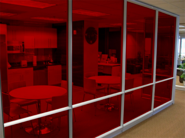 Rich Red Solar Graphics Colored Window Film For Glass 3260