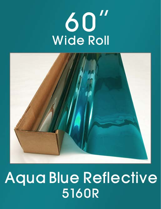 "Aqua Blue Reflective 60"" - 5160R - Colored Window Film"