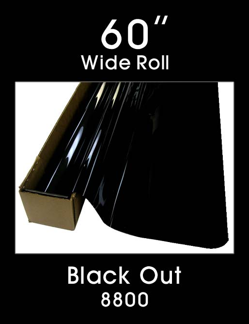 "Black Out 60"" - 8800 - Colored Window Film"