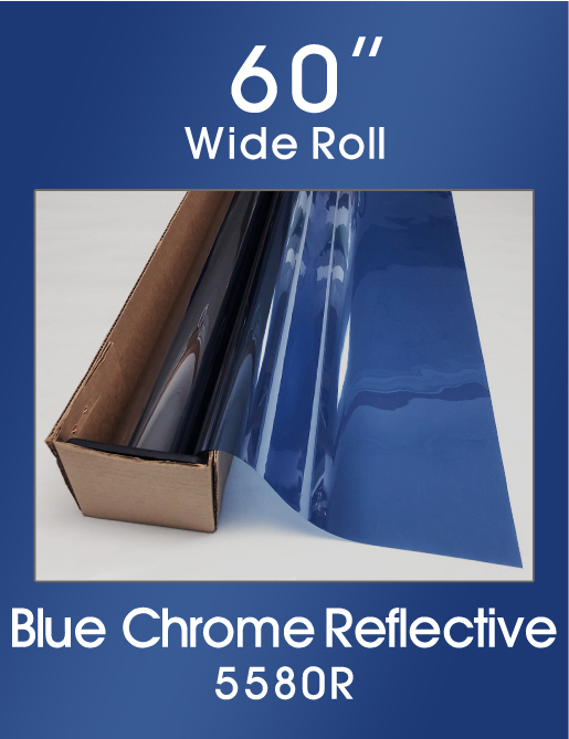 "Blue Chrome Reflective 60"" - 5580R - Colored Window Film"