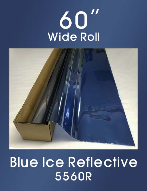 "Blue Ice Reflective 60"" - 5560R - Colored Window Film"