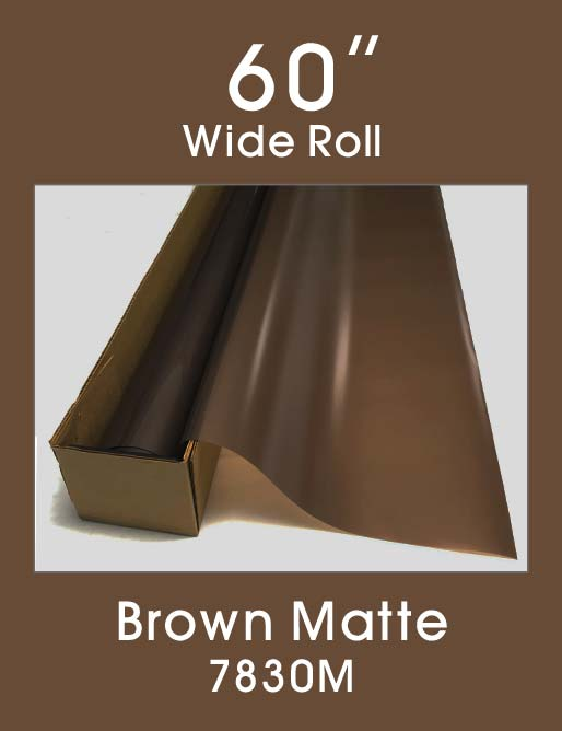 "Brown Matte - 60"" - 7830M - Colored Window Film"