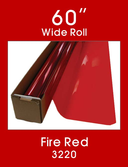 "Fire Red 60"" - 3220 - Colored Window Film"