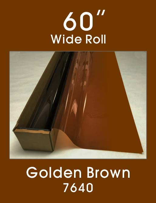 "Golden Brown 60"" - 7640 - Colored Window Film"