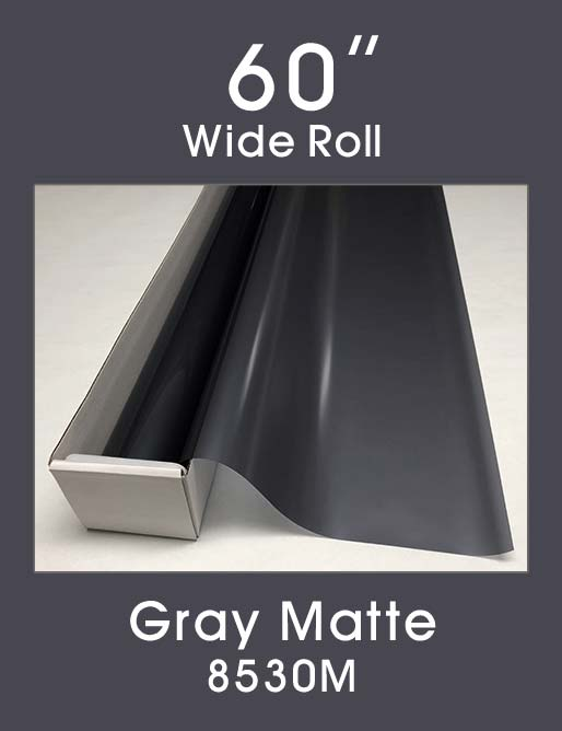 "Gray Matte - 60"" - 8530M - Colored Window Film"