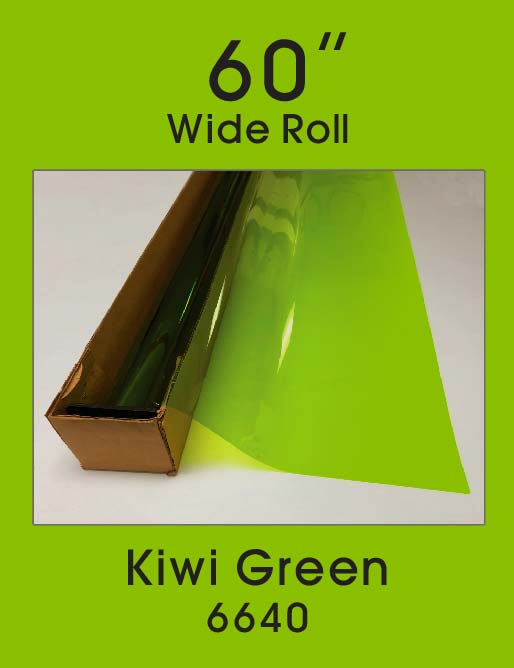 "Kiwi Green 60"" - 6640 - Colored Window Film"