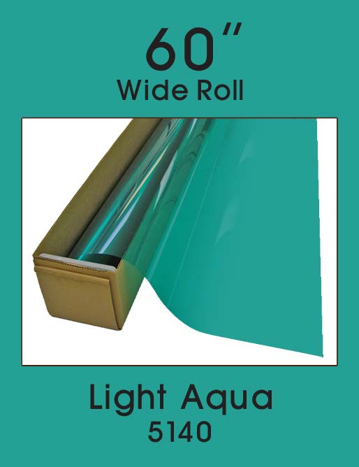 "Light Aqua 60"" - 5140 - Colored Window Film"